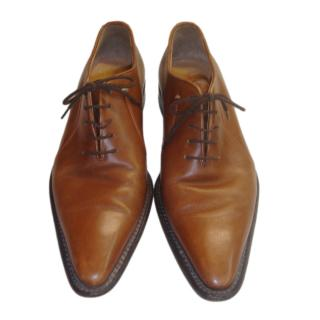 Walter Steiger Tan Lace-Up Oxfords