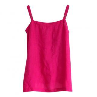 Dosa Pink Hand Woven Silk Cami Top