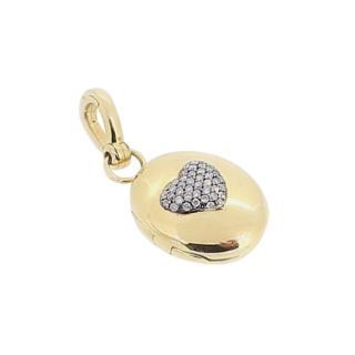 Annoushka 18ct Yellow Gold Diamond Heart Locket Pendant