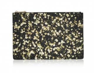 Givenchy Floral Print Large Leather Pouch
