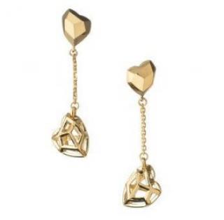 Links of London 18ct Yellow Gold Flutter & Wow Earrings