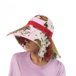 Dolce & Gabbana Pink Large Floral Print Hat