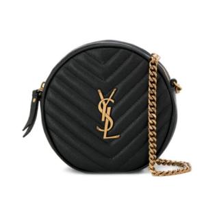 Saint Laurent Vinyle round leather cross body bag