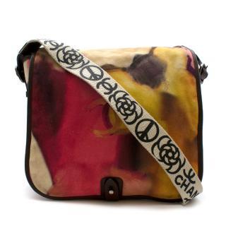 Chanel Runway Multicolour Flower Power Suede Messenger Bag