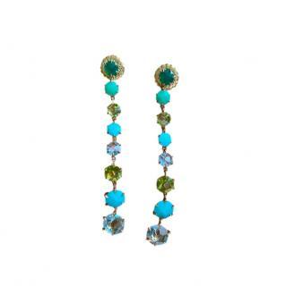 Ippolita Turquoise, Peridot & Quartz Rock Candy Drop Earrings