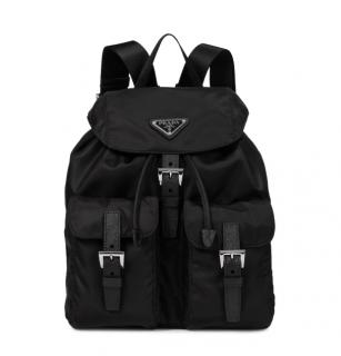 Prada Black Nylon Drawstring Backpack