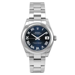 Rolex Blue Dial 31mm Datejust Steel Watch