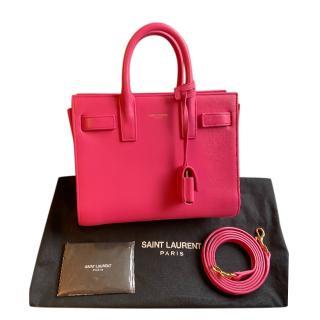 Saint Laurent Pink Nano Sac Du Jour