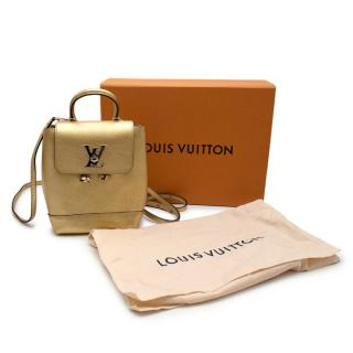 Louis Vuitton Lockme Mini Gold Leather Backpack