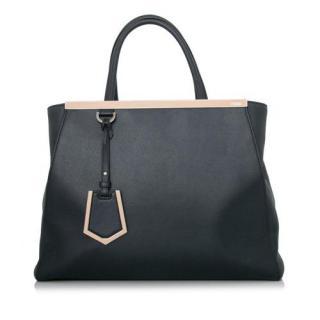 Fendi Medium 2Jours Leather Handbag