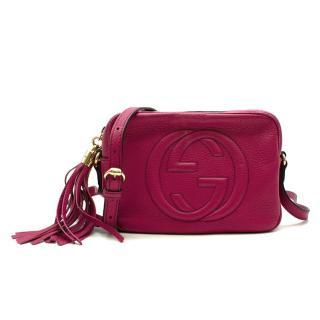 Gucci Disco Soho Leather Fuchsia Crossbody Bag