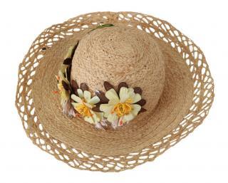 Dolce & Gabbana Floral Embellished Wicker Sun Hat