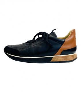 Hermes Leather & Suede Mens Sneakers