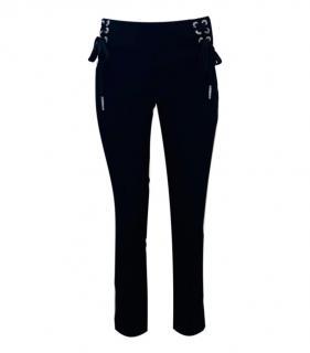 The Kooples Black Lace-Up Skinny Pants