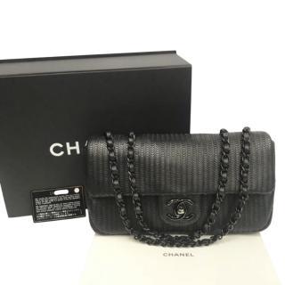 Chanel Black Lambskin Scalloped Shoulder Bag