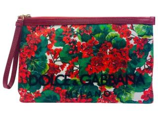 Dolce & Gabbana Geranium Print Pouch