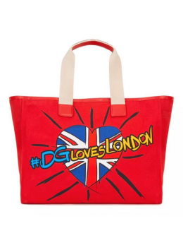 Dolce & Gabbana Red DG Loves London Tote Bag