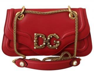 Dolce & Gabbana Red Amore Sling Bag