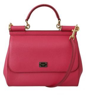 Dolce & Gabbana Pink Sicily Top Handle Bag