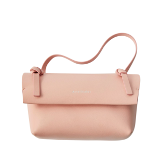 Acne Studios Powder Pink Knotted Shoulder Bag