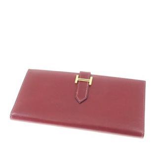 Hermes Bearn Soufflet Leather Wallet