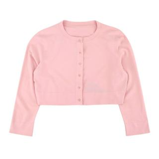Alaia Pink Knit Cropped Cardigan