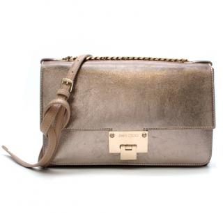 Jimmy Choo Gold leather Shoulder Bag