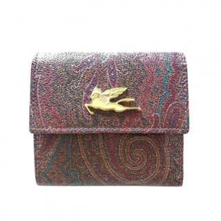 Etro Paisley Jacquard Small Wallet