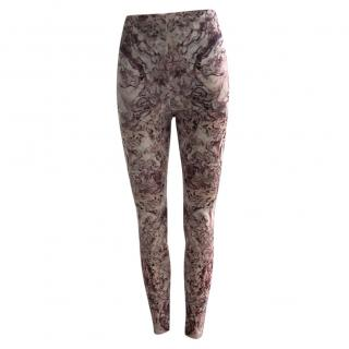 Alexander McQueen Pink Marbled Leggings