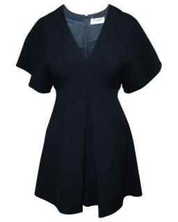 Saint Laurent Black Wool Blend Mini Dress