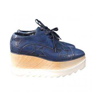 Stella McCartney blue brogue style elyse platforms
