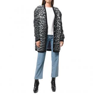 Magda Butrym Leopard Wool & Cashmere Cardigan