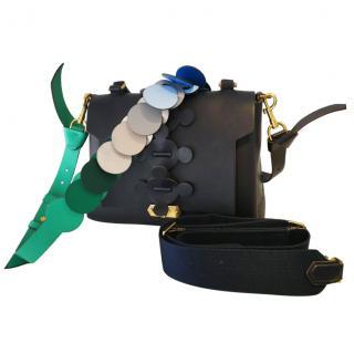 Anya Hindmarch Indigo Leather Bathurst Shoulder Bag