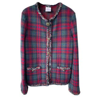 Chanel Paris/Edinburgh Tartan Gripoix Detail Jacket
