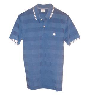 Brooks Brothers Blue Two-Tone Polo Shirt