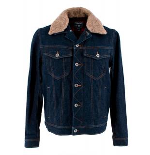 Woolrich Rinse Denim Shearling Jacket