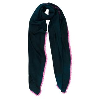 Louis Vuitton Blue & Pink Graffiti LV Wool Stole
