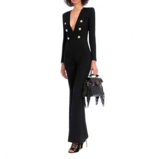 Balmain Double Breasted Wool Jumpsuit