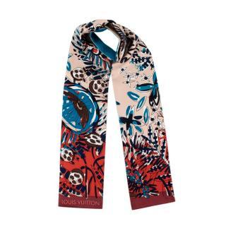 Louis Vuitton Silk Floral Print & Monogram Silk Bandeau