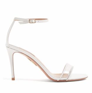 Aquazzura minimalist 85 white sandals