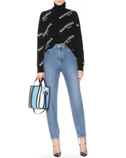 Balenciaga high rise stirrup jeans