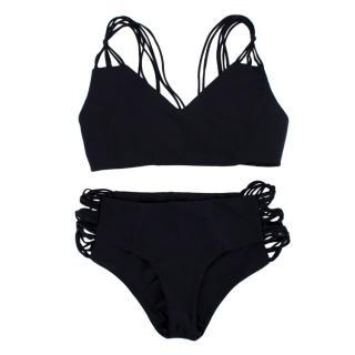 Mikoh Multi String Black Bikini Set