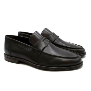 Boggi Brown Leather Loafers