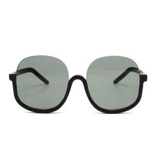 Custom Grey Handmade Oversized Sunglasses