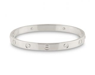 Cartier 18kt White Gold Diamond Love Bracelet