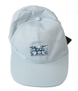Dolce & Gabbana Pale Blue Majolica Tile Baseball Cap