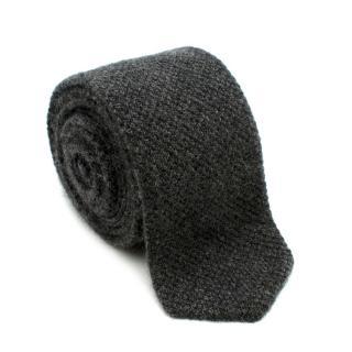 Bespoke Grey Cashmere Knit Tie