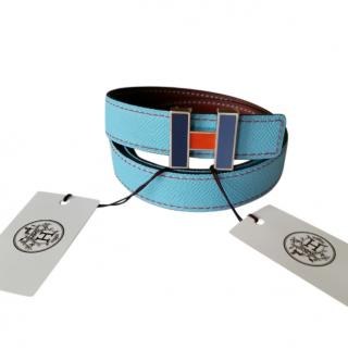 Hermes 24mm Reversible Belt with Tri-Colour H Buckle - Size 70