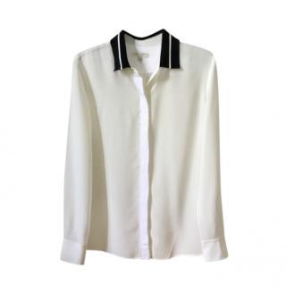 Rag & Bone Silk Grosgrain Crepe De Chine Shirt
