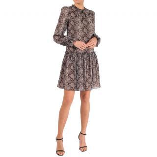 Michael Kors Collection snake print silk dress